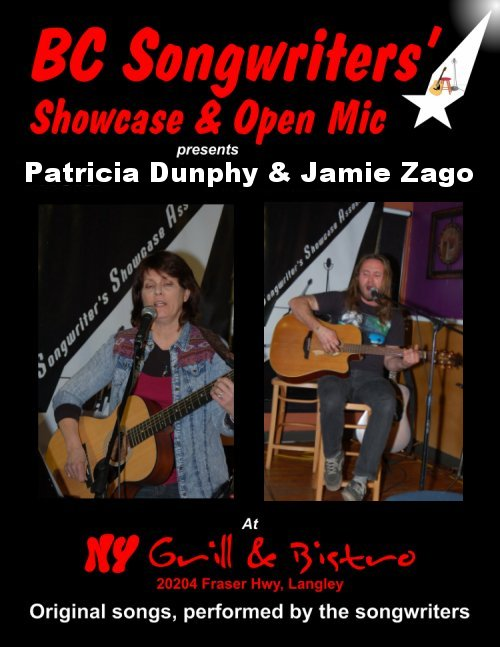 Patricia Dunphy & Jamie Zago - BC Songwriters' Showcase - BCSongwriters.ca