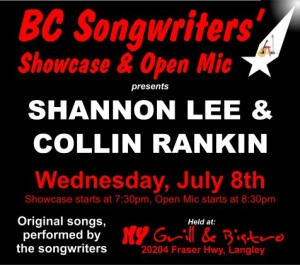 Shannon Lee & Collin Rankin | Lee & Rankin | BC Songwriters' Showcase & Open Mic - BCSongwriters.ca