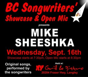 BCS - NY Grill - Mike Sheeshka - BCSongwriters.ca