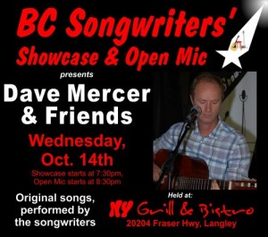 Dave Mercer & Friends - BC Songwriters' Featured Artist - BCSongwriters.ca