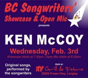 BC Songwriters - Ken McCoy - BCSongwriters.ca