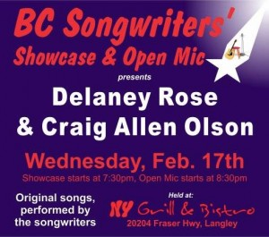 Delaney Rose & Craig Allen Olson - BCSongwriters.ca