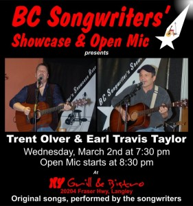 Trent Olver & Earl Travis Taylor - BCSongwriters.ca