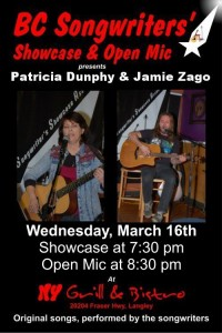 BC Songwriters presents Patricia Dunphy & Jamie Zago - BCSongwriters.ca
