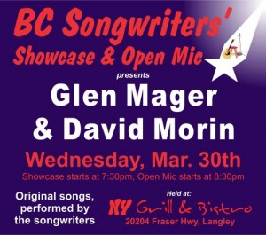 BC Songwriters presents Glen Mager & David Morin - BCSongwriters.ca