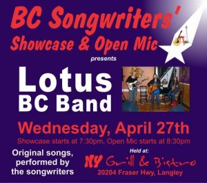BCS - Lotus BC Band - BC Songwriters' Showcase Featured Performers - BCSongwriters.ca