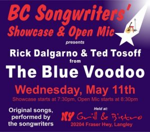 Rick & Ted - The Blue Voodoo performing at the BC Songwriters' Showcase - BCSongwriters.ca