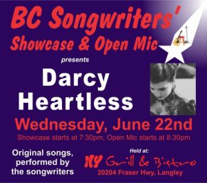 Darcy Heartless - BCSongwriters.ca