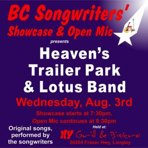 BC Songwriters' Showcase - Heaven's Trailer Park & Lotus Band - BCSongwriters.ca