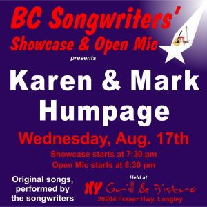BC Songwriters' Showcase - Karen & Mark Humpage - BCSongwriters.ca