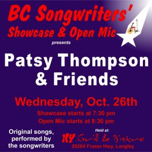 Patsy Thompson & Friends - BC Songwriters' Showcase & Open Mic - BCSongwriters.ca