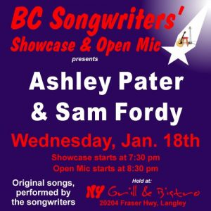 Ashley Pater & Sam Fordy - Songwriter Showcase - BCSongwriters.ca