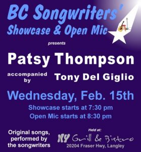 BCS - Patsy Thompson w Tony del Giglio - BCSongwriters.ca