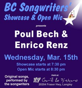 BC Songwriters - Poul Bech & Enrico Renz - BCSongwriters.ca