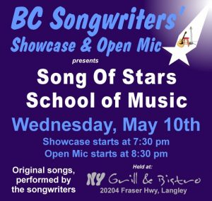 Song of Stars School of Music - BC Songwriters Showcase - BCSongwriters.ca