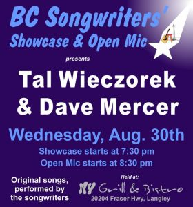 BC Songwriters - Tal Wieczorek & Dave Mercer - BCSongwriters.ca
