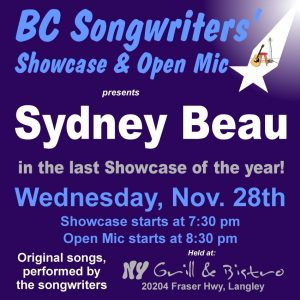 BCS - Sydney Beau - BCSongwriters.ca