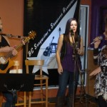 LaRaine introducing Britt Bonshor & Courtney Hunt - Performing at the BC Songwriters' Showcase - Langley, BC