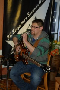 Mike Kuwabara - Performing at the BC Songwriters' Showcase Open Mic - Langley, BC