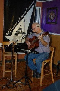 Bruce Rudolph - playing the BC Songwriters' Showcase Open Mic - Langley, BC