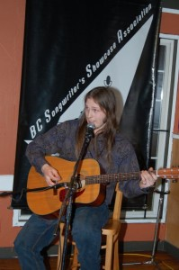 Kevin Wellman, performing at the BC Songwriters' Showcase Open Mic in Langley