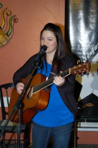 Feona from Lotus Band, being featured at the BC Songwriters Showcase Association's Songwriter Showcase, in Langley