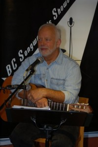 Bruce Rudolph performing at the BC Songwriters' Showcase in Langley — at BC Songwriters' Showcase Association.
