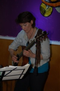 Patricia Dunphy performing at the BC Songwriters' Showcase in Langley — at BC Songwriters' Showcase Association.