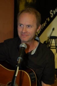 Dave Mercer playing at the Open Mic at the BC Songwriters' Showcase Association