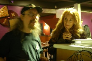 LaRaine and Bob the Sound Guy talking at the Sound Board