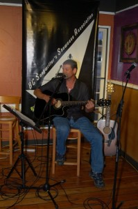 Troy Godfrey performing at the BC Songwriters' Open Mic, in Langley