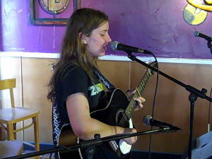 Amanda Marino, being featured at the BC Songwriters Showcase Association's Songwriter Showcase, in Langley