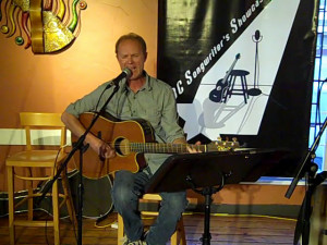 Dave Mercer playing at the Open Mic at the BC Songwriters' Showcase Association, in Langley