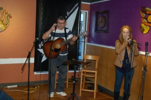 Conrad Gregoire performing at the BC Songwriters' Open Mic