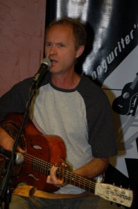 Dave Mercer wrapped up a great evening of music, playing at the BC Songwriters' Open Mic