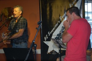 Dale Sawatzky and Pascal Bergeron playing the BC Songwriters' Songwriter Showcase