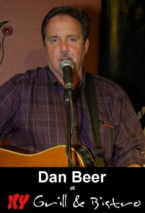 Dan Beer, performing at the BC Songwriters' Showcase, held at NY Grill & Bistro - 20204 Fraser Hwy, Langley