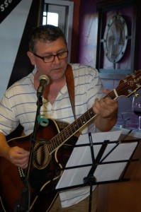Conrad Gregoire, playing the BC Songwriters' Songwriter Showcase, in Langley