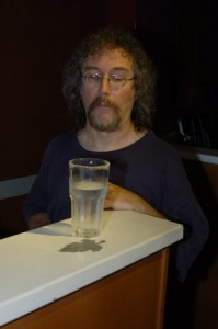 Bob the Sound Guy, unsure how to approach this week's experiment. #WhatIsThisWaterStuff