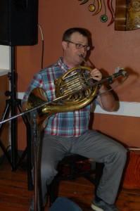 Jon Goheen, accompanying Dan Beer, at the BC Songwriters' Showcase — at BC Songwriters' Showcase Association.