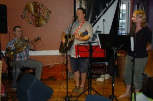 Dan Beer (accompanied by Jon & Kat Goheen) playing the BCSSA's Songwriter Showcase