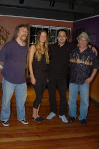 BC Songwriters' Board Members Bob Batyi (left) and Earl Travis Taylor (right) posing for a post-Showcase picture with Mani and Christina from NY Grill & Bistro