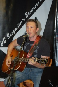 David Borys, performing at the BC Songwriters' Showcase, in Langley