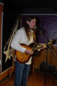 John Haynes (The Psychic Cowboy) performing at the BC Songwriters' Open Mic, in Langley