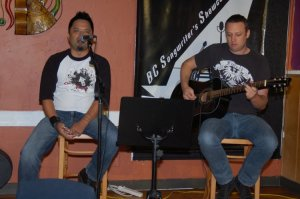 Rudy and Ryan, of Eleanor Rising, playing an acoustic set, at the BC Songwriters' Showcase