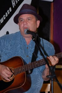 Earl Travis Taylor, performing at the BC Songwriters' Open Mic
