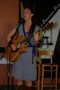Laine Henderson playing the BCSSA Songwriter Showcase