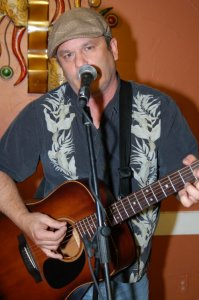 Earl Travis Taylor, playing the BC Songwriters' Open Mic