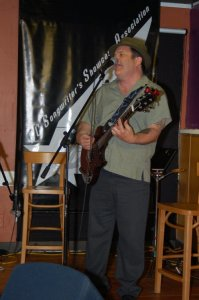 Earl Travis Taylor, playing the BC Songwriters' Showcase