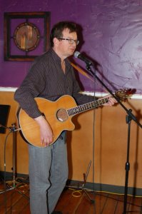 Paul Bech playing the BC Songwriters' Open Mic